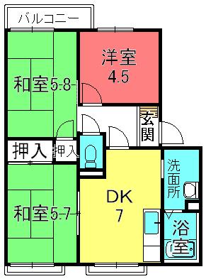 Denshii西浦B棟(栗東手原5)