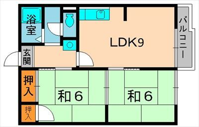 南井ハイツ 2LDK_R