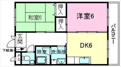 コーポ円満堂Ⅱ2DK_R