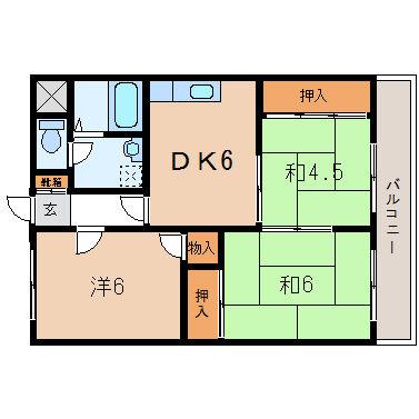 パインリーフ栗東(3DK)